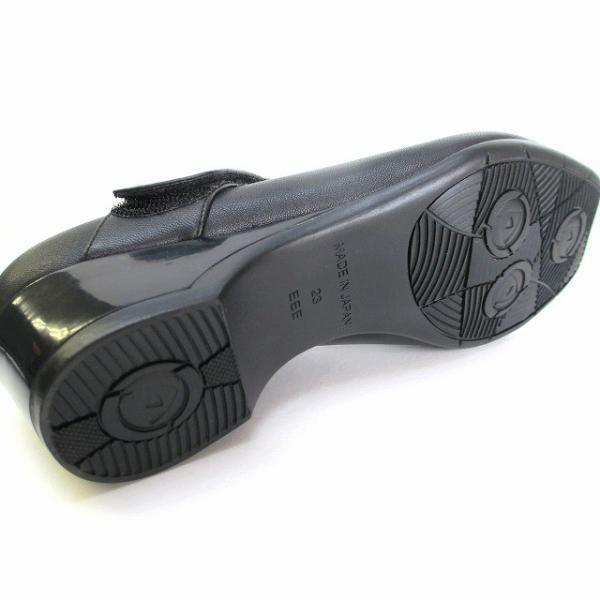 ピサ Pisaz pisaz 2138 日本製 レディース ストラップパンプス 仕事靴 通勤靴 ブラック