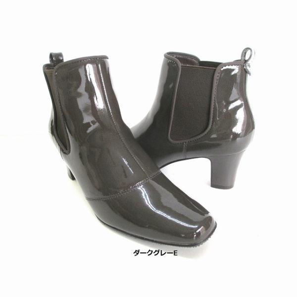 ピッティ Pitti pitti R570 レディース ショートブーツ サイドゴア レインブーツ 雨靴 仕事靴 通勤靴 ブラックE ダークグレーE オークE