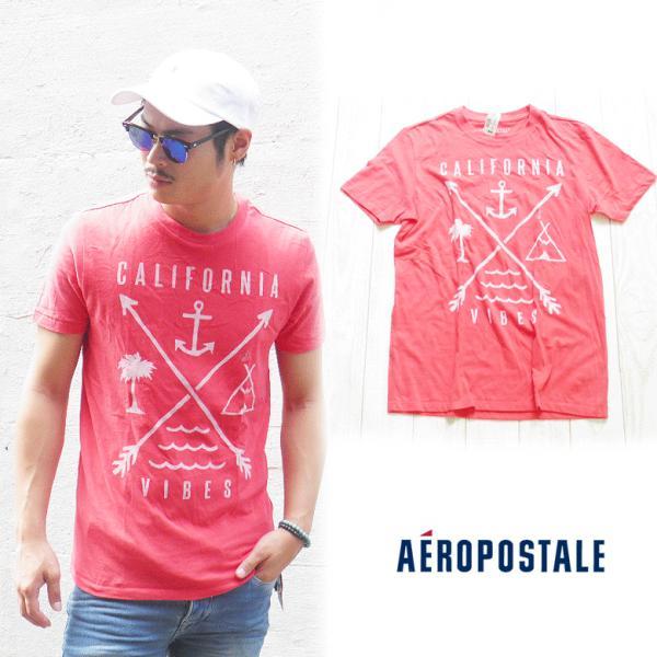 エアロポステール aeropostale エアロ ポステール  Tシャツ 半袖Tシャツ サーフブランド サーフ系 ブランド サーファー アメカジ ファッション レッド|maroon