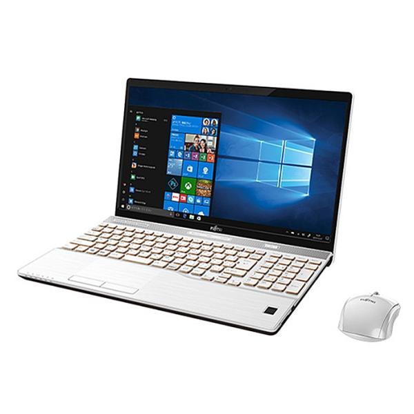 FUJITSU FMVA77B3W ノートパソコン LIFEBOOK(ライフブック) プレミアムホワイト [15.6型 /intel Core i7 /HDD:1TB /SSD:128GB /メモリ:8GB /2017年11月モデル]の画像