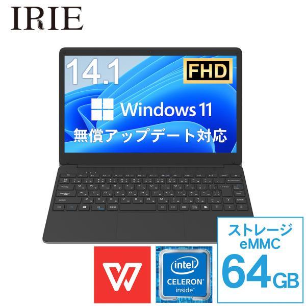 ノートパソコン新品Office搭載Win10prossdWebカメラ14.1インチCeleron64GB4GBフルHDWPSOf