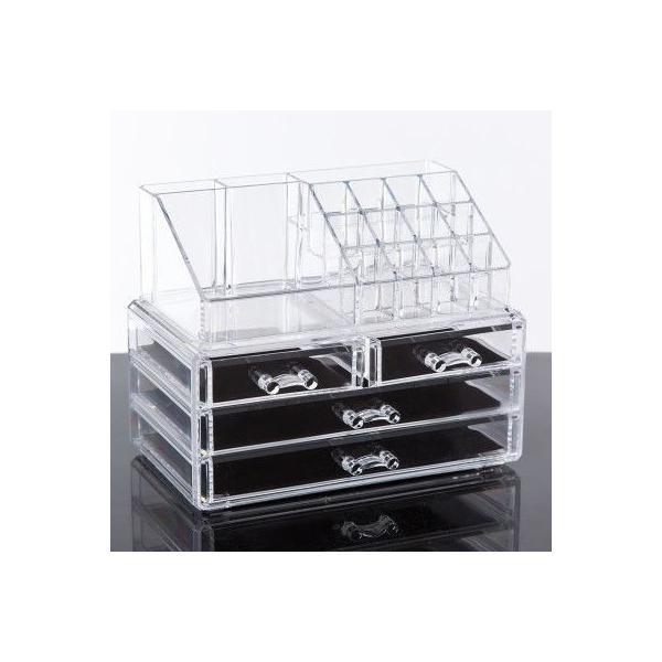 (4■3B) 化粧品収納ボックス クリアメイクボックス  mart-net