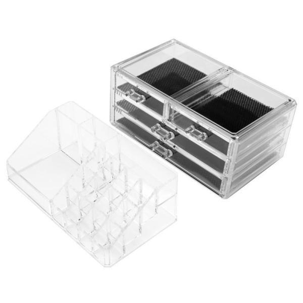 (4■3B) 化粧品収納ボックス クリアメイクボックス  mart-net 02