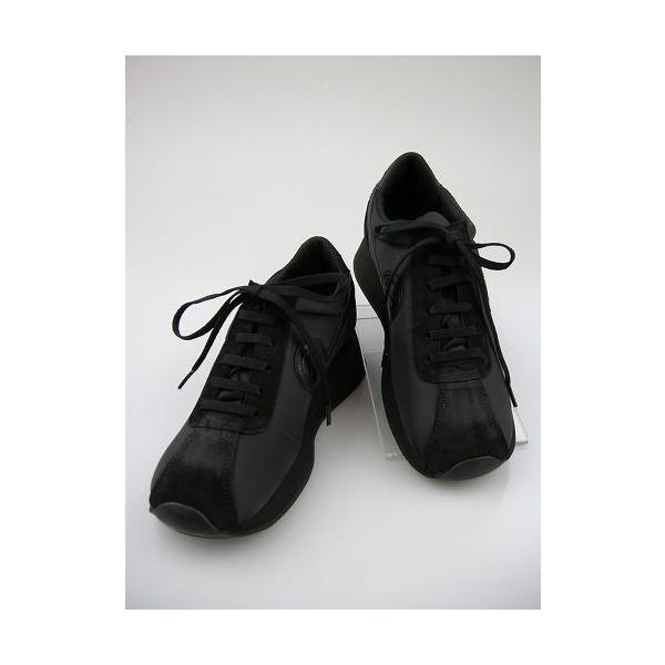 ノーネーム/NO NAME SPEED JOG ナイロン  ブラック/ブラック  美脚スニーカー 靴