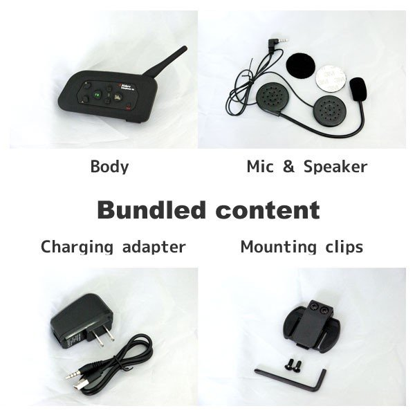インカム(インターコム) 4台同時通話 バイク用 3台セット Bluetooth v4-3set|marubi|02