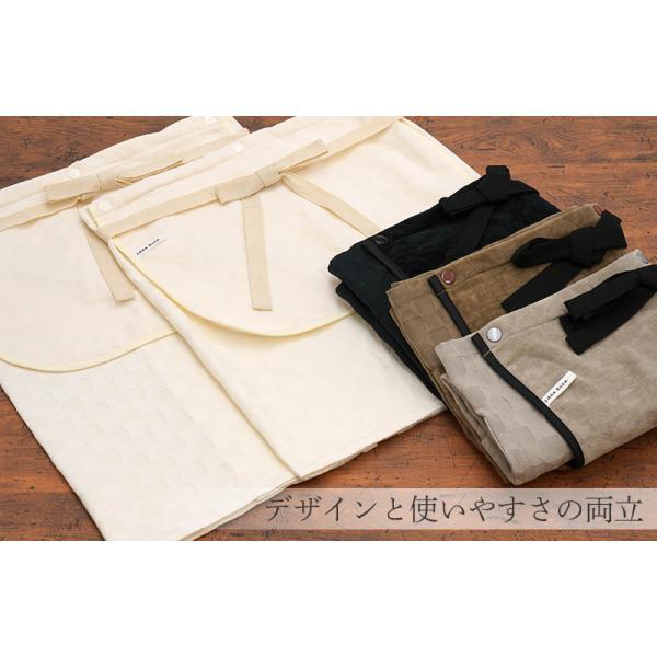 今治タオルエプロン idee Zora イデゾラ ナチュラルタイム パイル ギャルソンエプロン(ショート) 日本製 ギフト オーバースカート パイル|maruei-towel|02