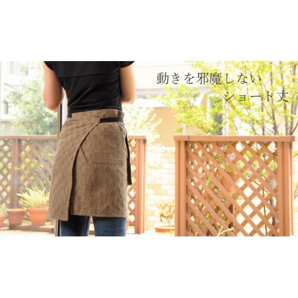 今治タオルエプロン idee Zora イデゾラ ナチュラルタイム パイル ギャルソンエプロン(ショート) 日本製 ギフト オーバースカート パイル|maruei-towel|05