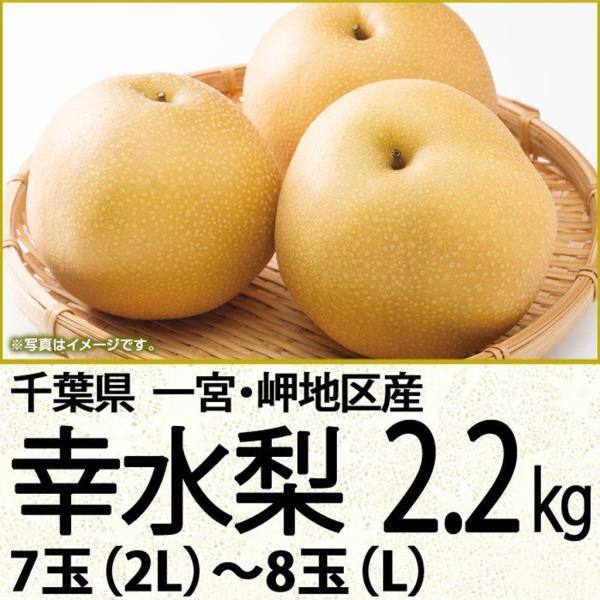 千葉県産梨幸水 幸水梨2.2kg 7玉(2L)〜8玉(L)(220_20梨)