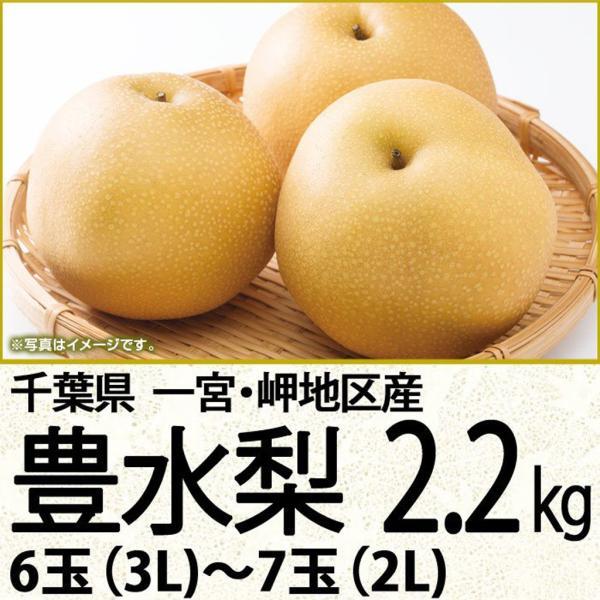 千葉県産梨豊水 豊水梨2.2kg 6玉(3L)〜7玉(2L)(220_20梨)
