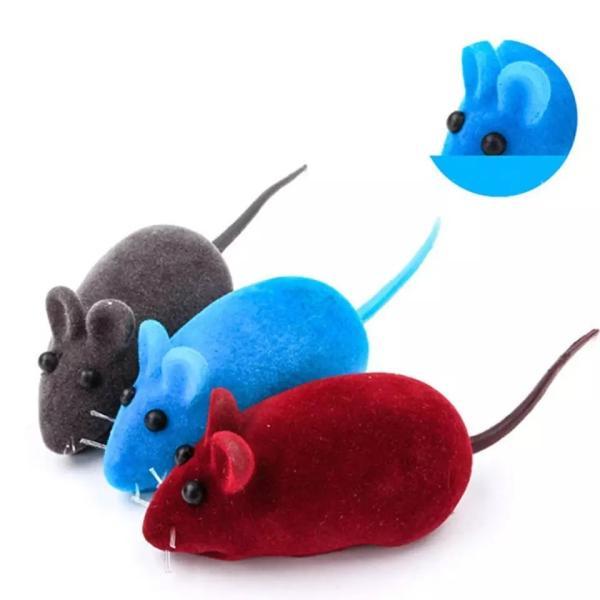 猫用おもちゃ ネズミ 猫じゃらし ねこおもちゃ 羽なしネズミ 色ランダム 1個入り 羽なしネズミ|maruhachipetshop