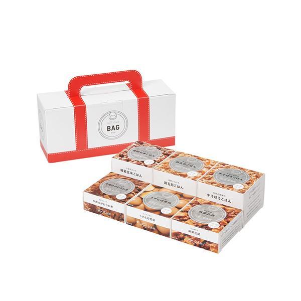 イザメシ IZAMESHI CAN BAG RED 缶詰6個入 防災グッズ 防災セット 非常食 保存食 防災用品