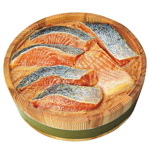 お中元 御中元 ギフト 新潟加島屋 キングサーモン味噌漬6切タル