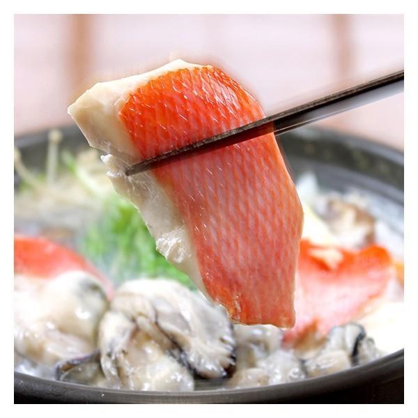 カキ牡蠣・金目鯛鍋セット(冷凍)3人前送料無料カラーレシピ付〔真空〕刺身用金目鯛を三枚おろしにしてウロコを取り、頭・中骨・腹骨も真空パックでかきは特大|marukatsu-onjuku11|03