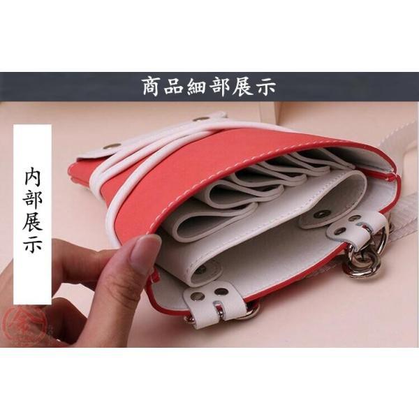シザーケース 美容師 ペット カット用品 シザー 上質PU革 トリマー シザーバッグ 5丁入 理美容シザーケース 多機能 大容量 送料無料|marukinsyouten|10
