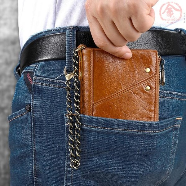 二つ折り 財布 メンズ レザー コインケース ファスナー ジッパー ポケット 大容量 カジュアル シンプル 定番 大人 男前 人気 おすすめ  社会人 通勤 コンパクト marukinsyouten 14