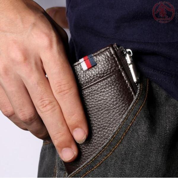 財布 メンズ 二つ折り 本革 牛革 RFID対応 ラウンドファスナー 小銭入れ カード入れ コンパクト ジーンズポケット入れ可 さいふ 彼氏 父の日 ギフト プレゼント|marukinsyouten|04
