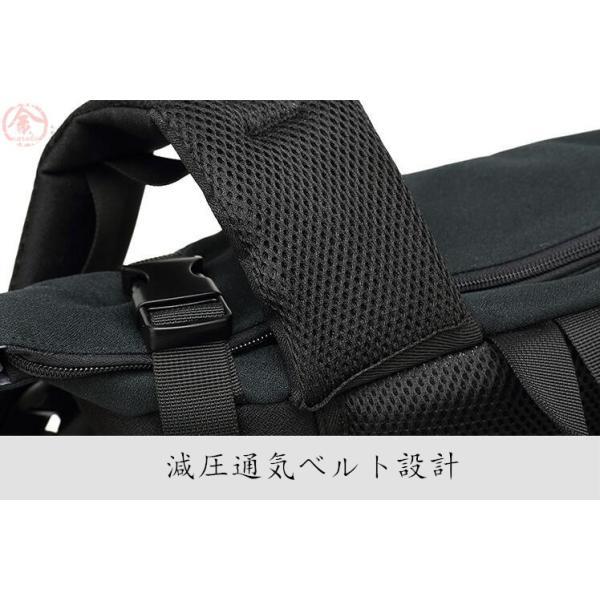 リュックサック メンズ バッグ 4way 収納力抜群 防水 通気 大容量 上品 かばん 人間工学設計 ディパック 通勤 出張 旅行 プレゼント|marukinsyouten|12