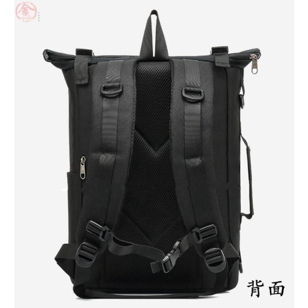 リュックサック メンズ バッグ 4way 収納力抜群 防水 通気 大容量 上品 かばん 人間工学設計 ディパック 通勤 出張 旅行 プレゼント|marukinsyouten|18