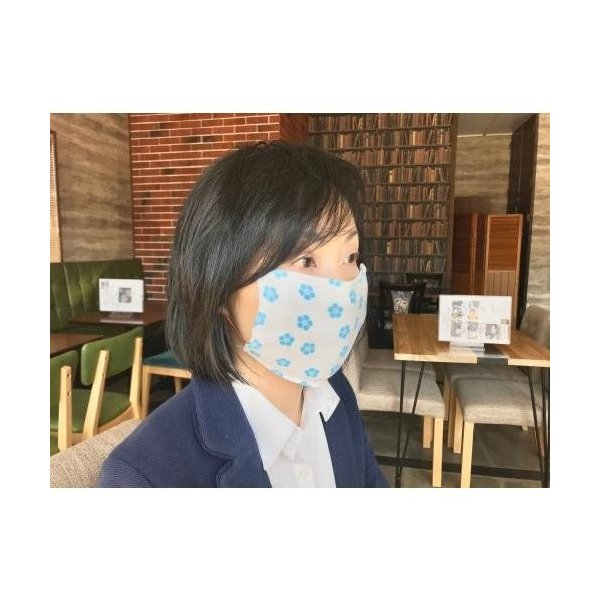 個包装  翌営業日出荷*ポケット付き!保冷剤入れたら冷感マスク「明智光秀の桔梗紋入 布マスク」5枚組(日本製)*送料込|maruko-jozo