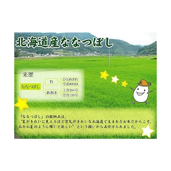 令和元年産 窒素充填ゆうパケット(メール便)配送 北海道産 無洗米 ななつぼし 2合(300g)×1袋 ハーベストシーズン 精米HARVES|marumarumaru|07