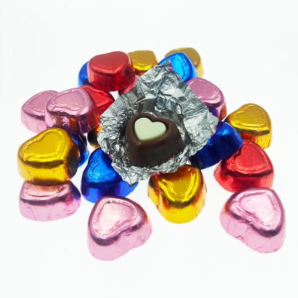 二色ハートチョコレート<業務用>1kg
