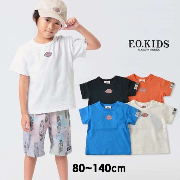 fd59e7c4544fa エフオーキッズ R207219-14M Dickies Tシャツ キッズ ベビー トップス 半袖 ディッキーズ コラボT ブランド
