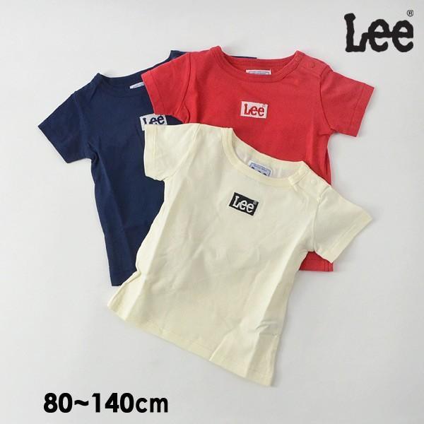 e562fd0e9a014 メール便可 リー 9184376-14M 刺繍BOXロゴTシャツ キッズ ベビー トップス 半袖