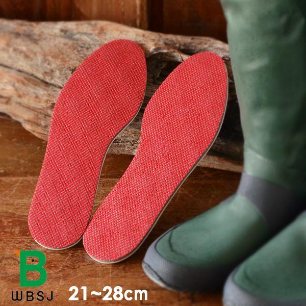 バードウォッチングバードウォッチング長靴用インソールWarm490606-mFレディースメンズ中敷き長靴レインブーツ暖かい保温日