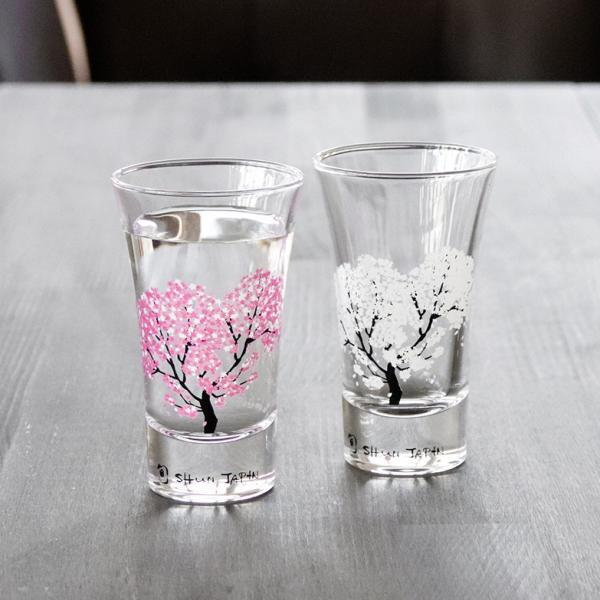 冷感桜 グラス天開ペアセット お酒をより楽しむためのおしゃれな酒器!|marumotakagi|02