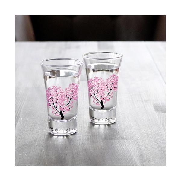 冷感桜 グラス天開ペアセット お酒をより楽しむためのおしゃれな酒器!|marumotakagi|04