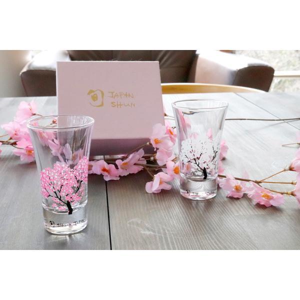 冷感桜 グラス天開ペアセット お酒をより楽しむためのおしゃれな酒器!|marumotakagi|05