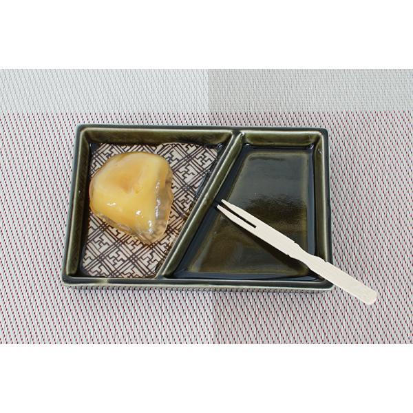 小皿 薬味皿 W12.5cm 二つ仕切り皿(斜) 格子織部シリーズ marumotakagi 02