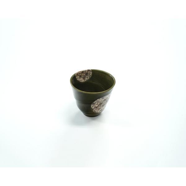 湯呑 カップ 220cc 渦巻きフリーカップ 格子織部シリーズ|marumotakagi