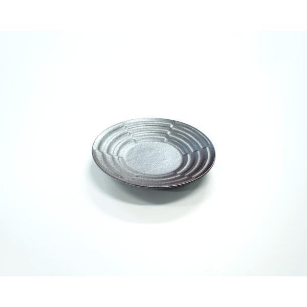 中皿 丸皿 19cm市松デザイン皿 黒銀彩シリーズ|marumotakagi