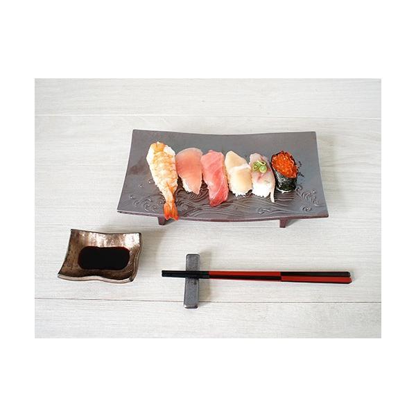 箸置きおしゃれな陶器 箸置 黒銀彩シリーズ|marumotakagi|03