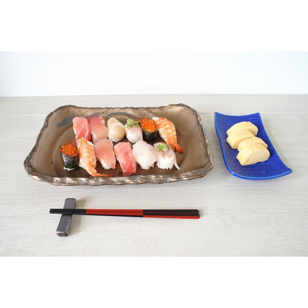 箸置きおしゃれな陶器 箸置 黒銀彩シリーズ|marumotakagi|04
