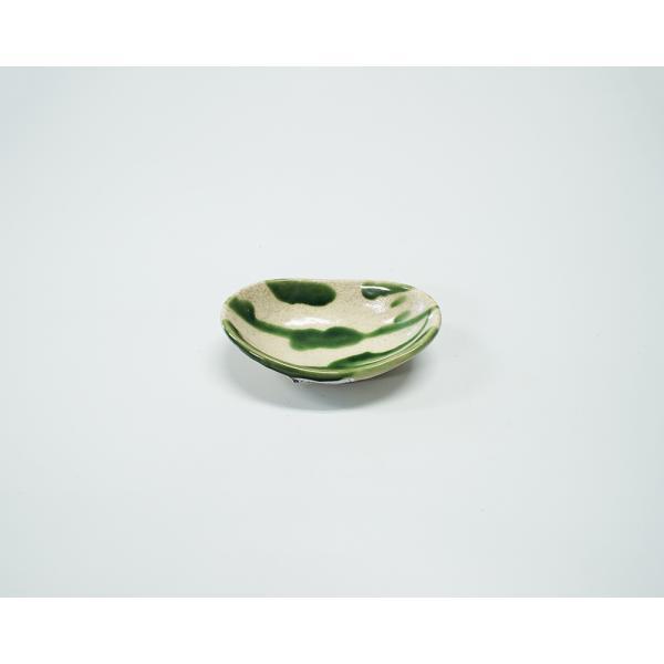 小皿 ボウル 楕円形 W12.5cm 舟型小付 乱織部シリーズ|marumotakagi