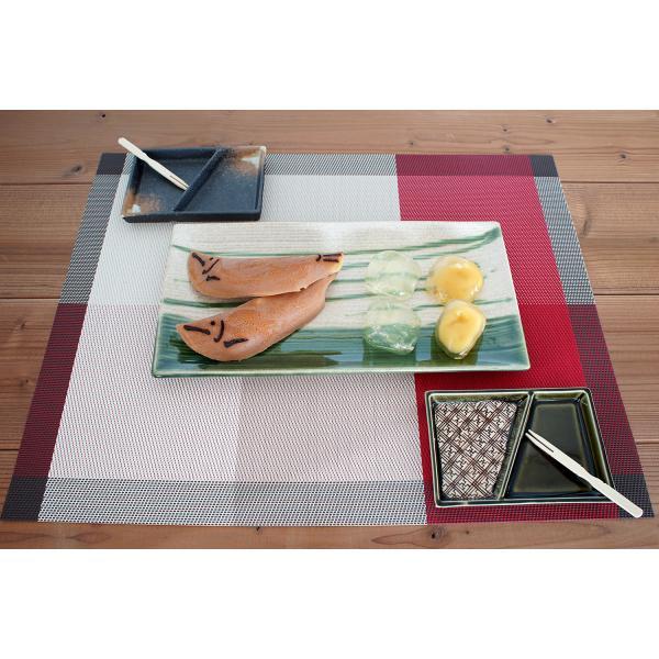 角皿 和食器 大皿 29.5X15レリーフ長角皿 乱織部シリーズ|marumotakagi|02