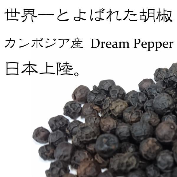 ドリームペッパー 黒胡椒 こしょう カンボジア産 25g×2袋|marunou