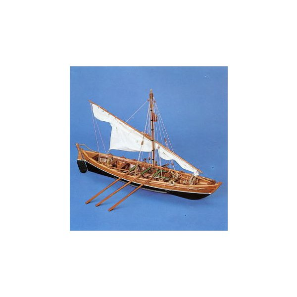 1/16 捕鯨ボート ( 19世紀後半) 【PANART Art742 木製組立モデル】