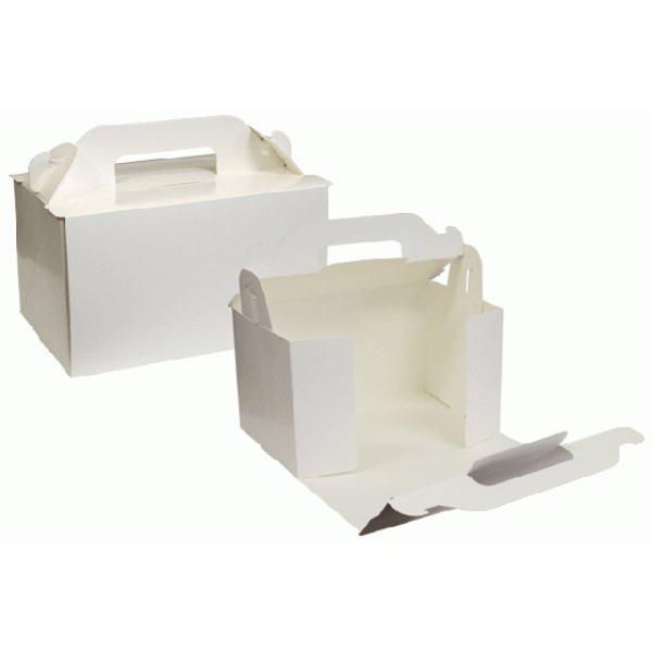 ショートケーキ用ボックス オープンロック(3.5×5)ホワイト 5枚入