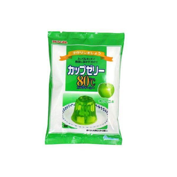 カップゼリー 青りんご 100g×2入(かんてんぱぱ)