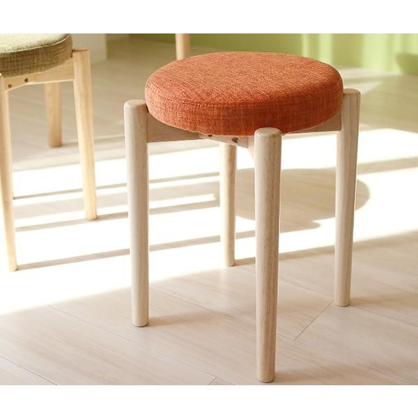 木製スツール Rund ルント ファブリック座面 木製 円形スツール 積み重ね可能 スタッキング可能 コンパクト オリジナル商品 布製 無垢材 丸椅子[k]|marusyou|10