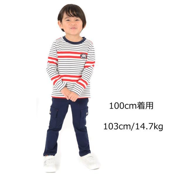 【子供服】 moujonjon (ムージョンジョン) のびふわツイルカーゴパンツ 80cm〜130cm M11000|marutaka-iryo|09