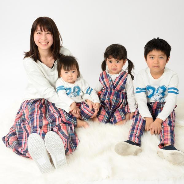 おそろい:キッズ 子供服 moujonjon (ムージョンジョン) チェック柄・無地パンツ 80cm〜140cm m13007|marutaka-iryo|13