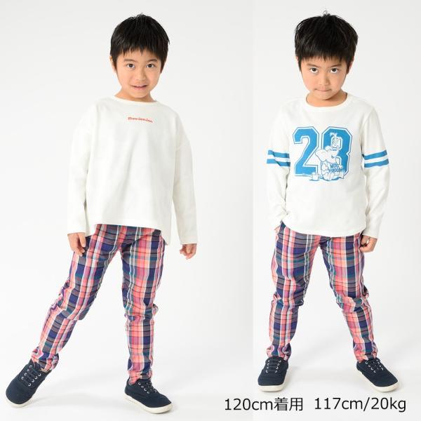 おそろい:キッズ 子供服 moujonjon (ムージョンジョン) チェック柄・無地パンツ 80cm〜140cm m13007|marutaka-iryo|14