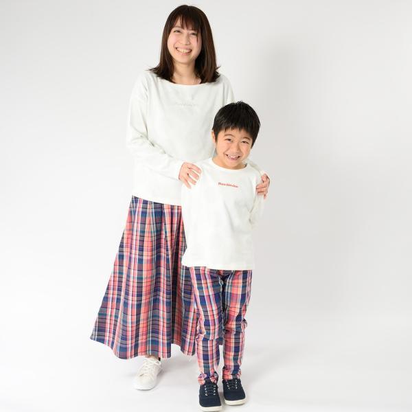 おそろい:キッズ 子供服 moujonjon (ムージョンジョン) チェック柄・無地パンツ 80cm〜140cm m13007|marutaka-iryo|15