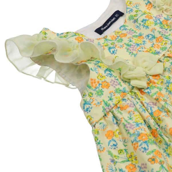 キッズ 子供服 moujonjon (ムージョンジョン) リボンフリル付き花柄チュニックワンピース 80cm,90cm m32311 marutaka-iryo 06