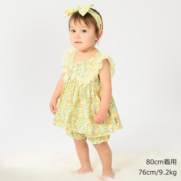 キッズ 子供服 moujonjon (ムージョンジョン) リボンフリル付き花柄チュニックワンピース 80cm,90cm m32311 marutaka-iryo 09