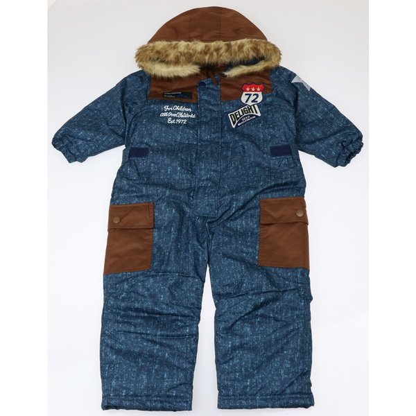 30%OFF:子供服 moujonjon (ムージョンジョン) デニム風スノーコンビ・スキーウェア 90cm〜120cm M60191 marutaka-iryo 02